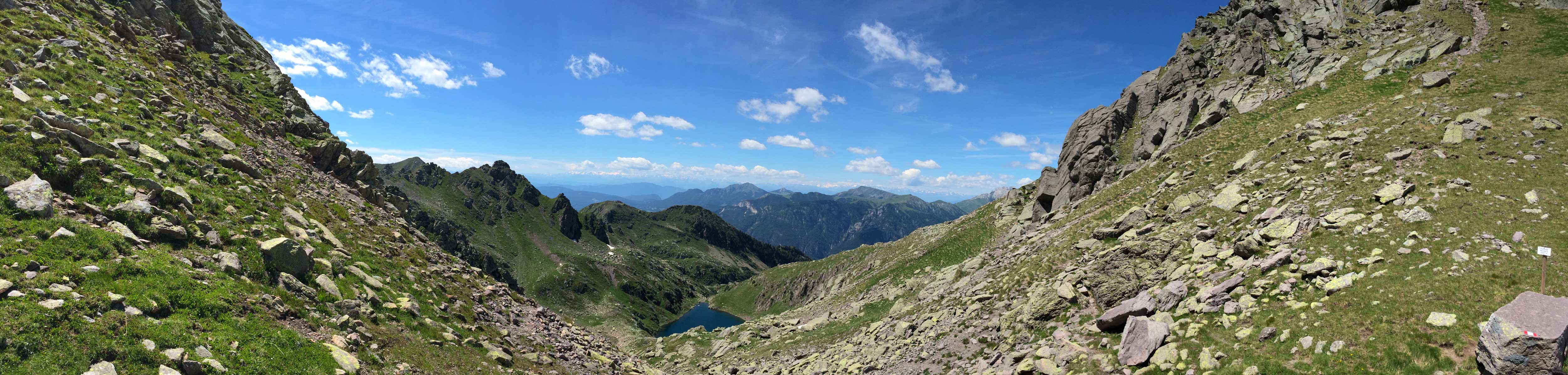 Lago Brutto visto da Forcella Moregna
