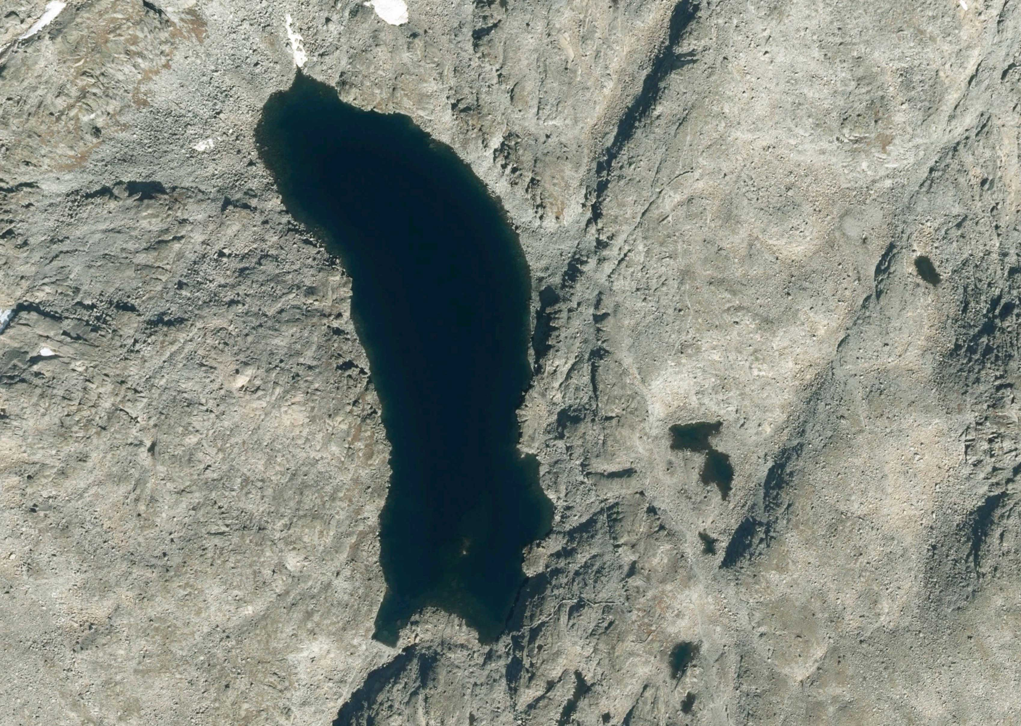 Lago Scuro dal satellite